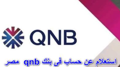 استعلام عن حساب فى بنك qnb مصر