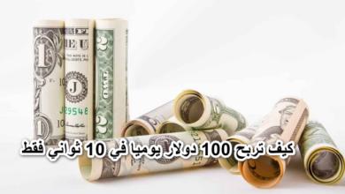 كيف تربح 100 دولار يوميا في 10 ثواني فقط